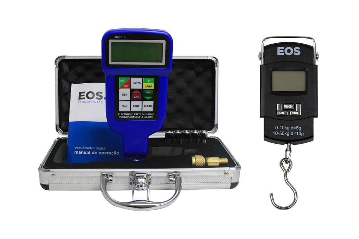 Vacuômetro e balanças digitais EOS - Frigelar