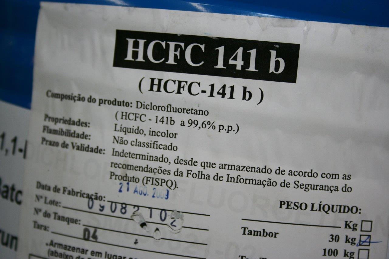 HCFC em Central de Reciclagem de Fluidos Refrigerantes