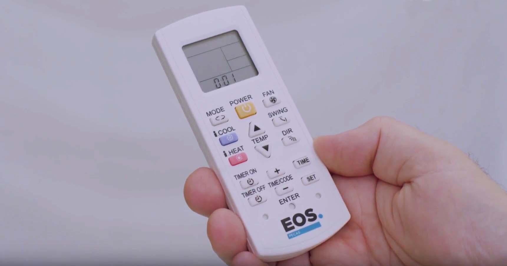 Controle remoto universal EOS para condicionadores de ar