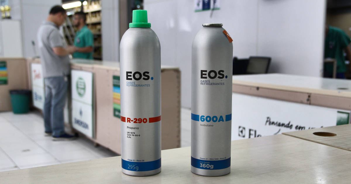Gases refrigerantes EOS propano e isobutano