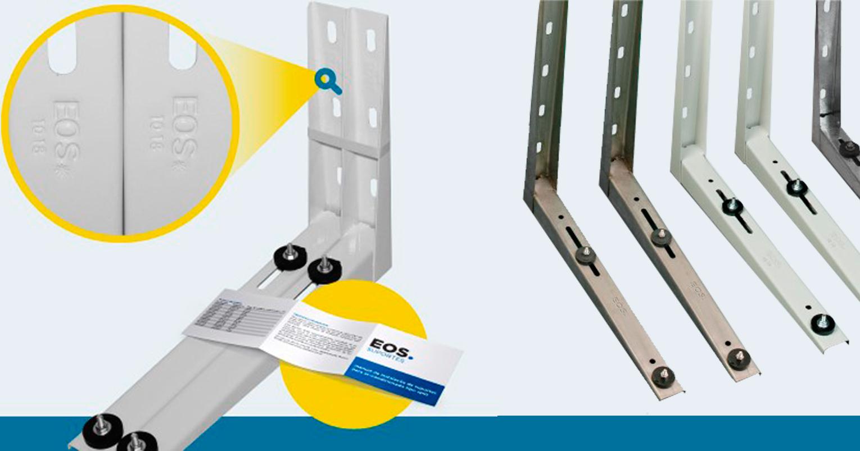 Suporte de condicionador de ar da marca EOS, comercializado pela Frigelar