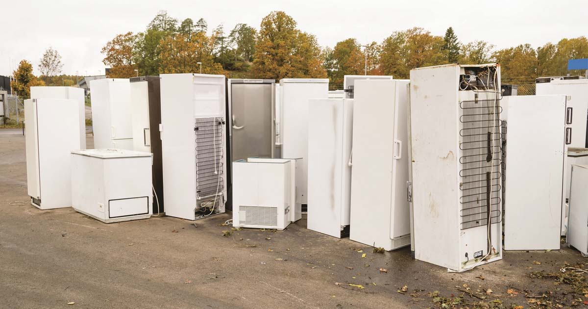 Depósito de geladeiras usadas | Foto: Shutterstock