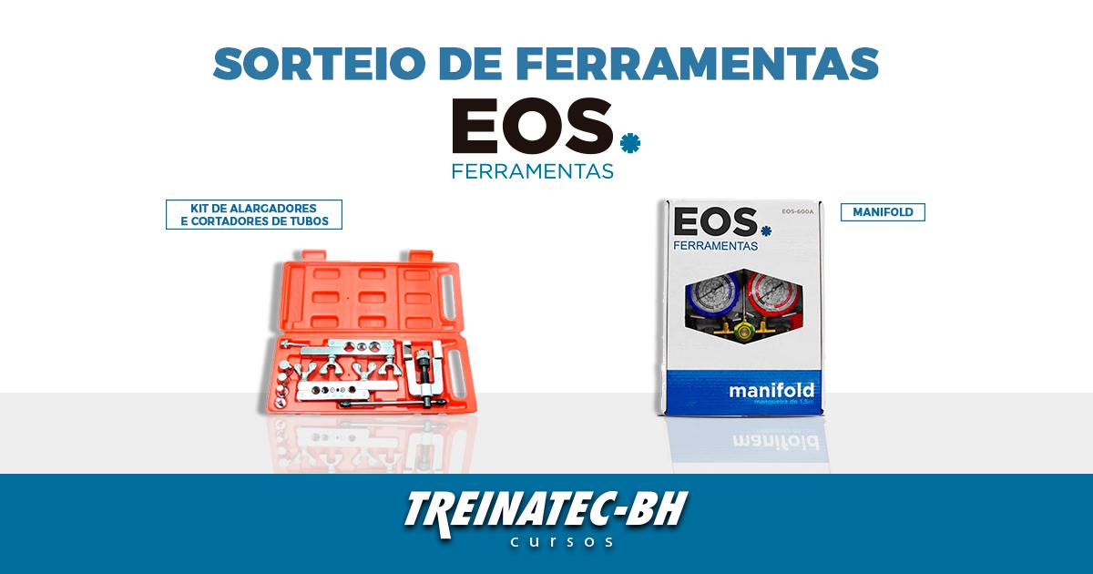 Kit com alargadores e flangeadores e manifold completo da marca EOS