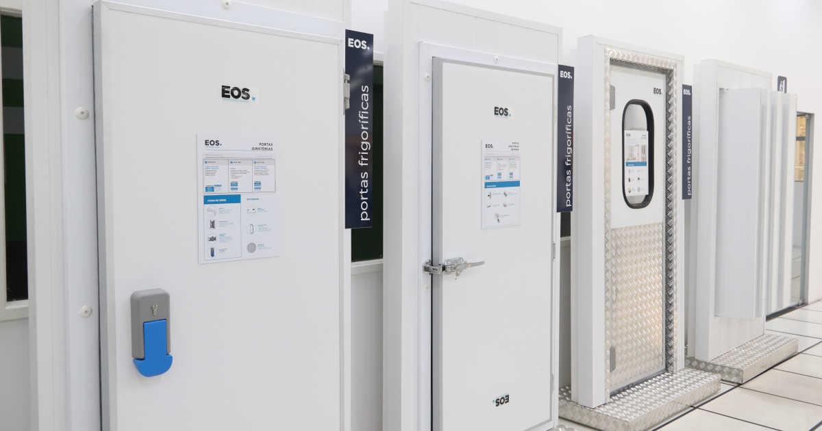 Portas de câmaras frigoríficas EOS Frigelar | Foto: Nando Costa/Pauta Fotográfica