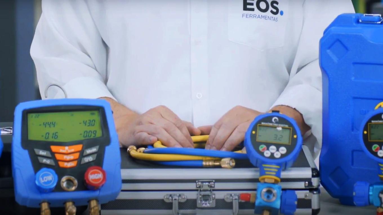 manifolds utilizados para verificar o nivel de gas